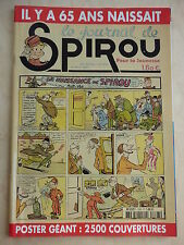 SPIROU n° 3393 NUMERO ANNIVERSAIRE POSTER GEANT 2500 COUVERTURES  ( CHAT )