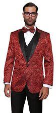 Statement Men's Paisley Design Modern Fit 3-Piece Luxury Tuxedo Suit Set -...