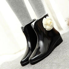 Korean Style Women's Rain Boots Waterproof Rubber Rainboots Slip On Casual Shoes