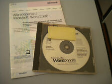 Software Microsoft Word 2000 Original CD+Notebook+License