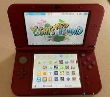 Red 'New' 3ds XL with installed games