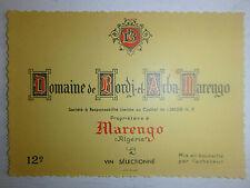 Old Label - Wine Of Algeria - Marengo - Domaine De Bordj El Arba - SAIGON
