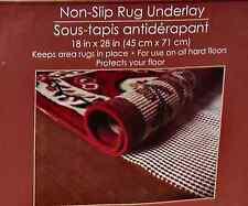 "Non Slip Rug Gripper Underlay Nonslip Non Skid Carpet Pad 18"" x 28"" NEW"