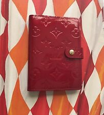Authentic Louis Vuitton Vernis Pomme D Amour Red Agenda Day Planner Cover PM