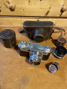 Nikon Rangefinder Camera Plus Case & Accesories.