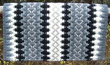 Custom Arroyo Seco Show Blanket - 38x34 (Charcoal Base/Cream and Gray Accents)
