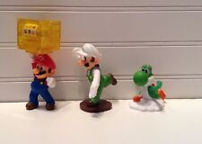 Nintendo Super Mario Bros. Mario Luigi Yoshi Plastic Figurines Lot Set Of 3