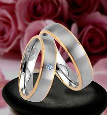 2 Trauringe  Eheringe Verlobungsringe mit echten Blautopas inkl GRAVUR , JE21-1B