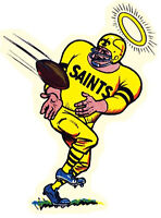 New Orleans Saints  NFL Football  1960's  Vintage Looking  Sticker decal