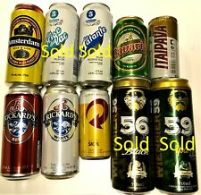 Brazil and Canada Beer Cans your choice of many different brands empty Bott Open