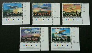 [SJ] Singapore 100 Years Aviation 2011 Airplane Airport Transport (stamp) MNH