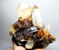4.36lb Natural Hematite/Specularite&Quartz Crystals Cluster Minerals Specimens!