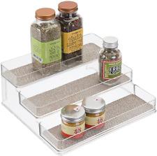 New listing iDesign Twillo Plastic Stadium Spice Rack, 3-Tier Organizer for Kitchen Pantry,
