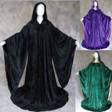 Velvet Wizard Cloak Hooded/Cape Men Halloween With Sleeves Robe Various colours