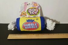 Dubble Bubble Gum Squeaky Durable Fabric/Rope Dog Toy by Cosmic Pet