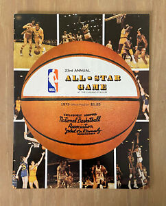 PETE MARAVICH FIRST ALL STAR VINTAGE 1973 NBA BASKETBALL ALL-STAR GAME PROGRAM