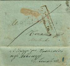 GG641-ABRUZZO,REGNO DI NAPOLI, PREF.,DA TERAMO A MONTECALVO,LETTERA FRANCA, 1856