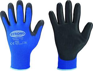 1 paar PU Mechanikerhandschuhe Gr.10 blau Strong Hand