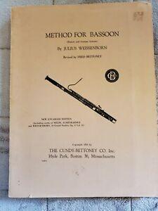 J Weissenborn  Method for Bassoon Six Sontatas Bassoon Piano Galliard V