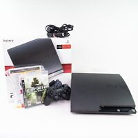 Sony PlayStation 3 PS3 Slim 120GB Console Bundle (CECH-2001A)-TESTED