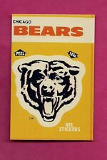 1984 CHICAGO BEARS   NFL FOOTBALL STICKERS SHEDULE NRMT+ (INV# A3118)