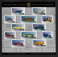 Canada — Pane of 12 Stamps — Historic Land Vehicles Collections #1605(Half) —MNH
