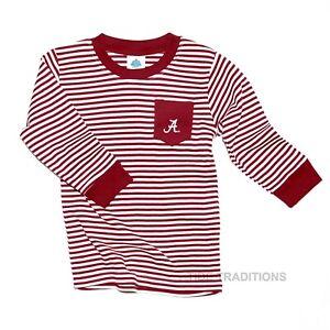 Alabama Crimson Tide Long Sleeve Toddler Pocket Tee