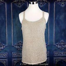 Roisin McCarthy Celtic Designs Womens 2XL Beige Sleeveless Sweater Tank Cami