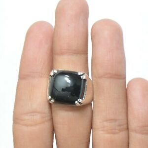 Black onyx Gemstone Solitaire Ring Size 7 925 Sterling Silver Jewelry KB08207
