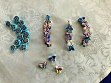 BUTTERFLY  & FLOWER CEREMIC/PORCELAIN CHARMS 33 PIECES, ALL NEW!