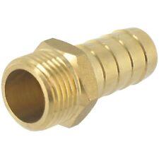Embout 6 pans droit en laiton cannelé Mâle - Ø 15 mm - 15 x 21 mm - CAP VERT