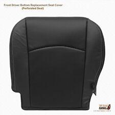 2013 14 2015 Dodge Ram 3500 Laramie Driver Side Bottom Leather Seat Cover BLACK