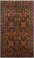"""Vintage Hand-Knotted Carpet 4'11"""" x 8'6"""" Traditional Oriental Wool Area Rug"""