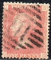 1868 SG 43 1d rose-red 'GD' Plate 113 with Duplex Cancellation Fine Used