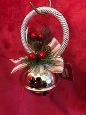 Christmas Bell Door Hanger Decoration - Pine cones & xmas berries decorations