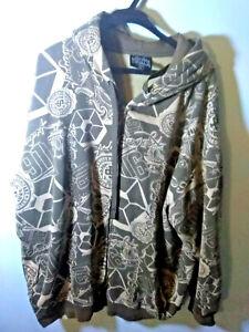 Southpole Mens XL Brown Full Zip Hooded Sweater Hoodie Sweatshirt Long Sleeve