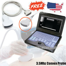 Digital Portable Ultrasound Scanner Laptop CMS600P2 with 3.5Mhz Convex probe,USA