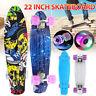 22'' Beginner Skateboard Cruiser Board Skate Chrome Bearing Flashing Wheel