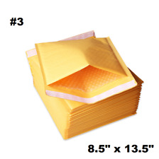"100PCS #3 8.5x14.5"" Golden Kraft Bubble Padded Shipping Envelope Mailers Bag"