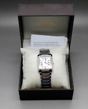 Rotary Mens Stainless Steel Date Silver Tone SS  Band Watch GB02605/01 In Box