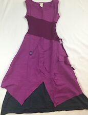 LN Matilda Jane Clothing Women's Plum Ekaterina Linen blend dress Size XS $78.00