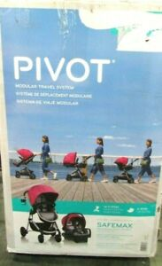 Evenflo Pivot Modular Travel System With SafeMax Car Seat, Dusty Rose