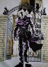 Joker Arkham 40x28 oil painting Framing avail.Batman Dark Knight Bane Gotham