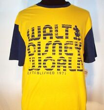 New! Authentic Walt Disney World T-Shirt Xl Blue & Gold Mickey Mouse New w/Tag!