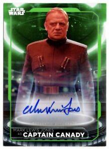 Star Wars 2021 Battle Plans, Autograph Card, Mark Lewis Jones, Captain Canady