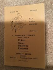 PAT PAR-GRAPHS -U.S. Philatelic Research - Section 54 -Oct 1950 - Elliott Perry