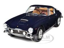 "1961 FERRARI 250 GT BERLINETTA PASSO CORTO ""SWB"" BLUE ELITE 1/18 HOTWHEELS W1180"