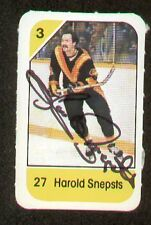 Harold Snepsts signed autograph auto 1982-83 Post Cereal NHL Hockey Card