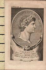 c1795 GEORGIAN PRINT ~ CALIGULA ~ ROMAN EMPEROR