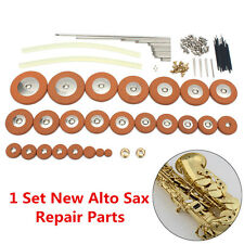 New 1 Set Alto Sax Repair Parts Screws + Sax Pads + Hot Melt Glue Adhesive Stick